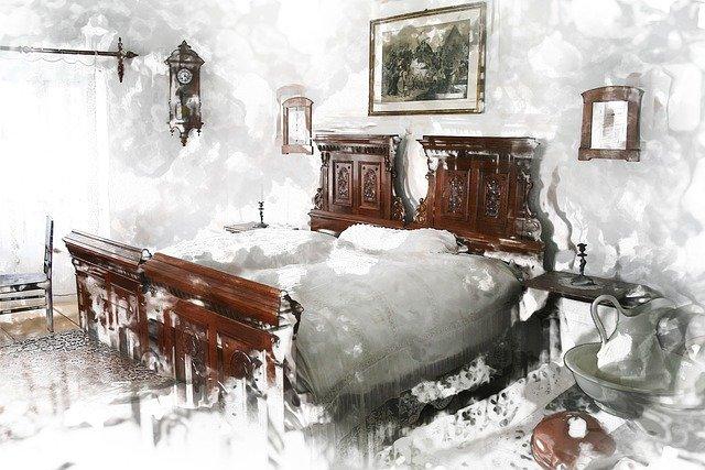 starožitná ložnice